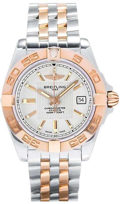217 breitling galactic 32 two tone womens luxury dress