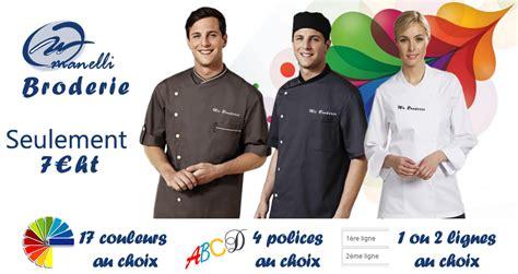 veste cuisine personnalis馥 veste de cuisine personnalis 233 e brod 233 e broderie manelli