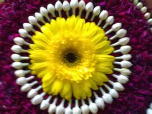 Rangoli Using Flowers - shopzters colorful rangoli designs with flowers