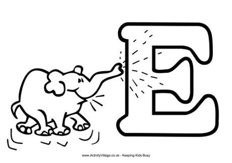e coloring pages preschool letter e coloring preschool crafts