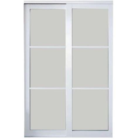 interior sliding doors home depot contractors wardrobe 72 in x 81 in eclipse 3 lite