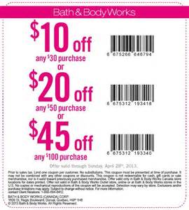 Bath amp body works canada printable coupon up to 45 off your purchase