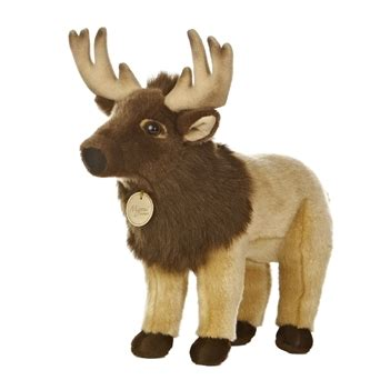 realistic stuffed elk 14 inch plush animal by aurora at