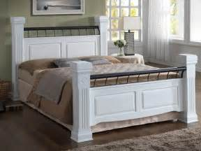 White Wooden King Size Bed Frame Ideal Furniture Rolo King Size White Wooden Bed Frame