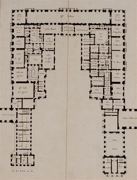 versailles floor plan first floor plan ch 226 teau de versailles 1814 it shows