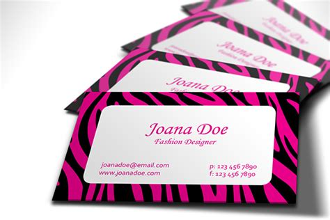 50 Best Free Business Card Templates 2014 Pink Zebra Business Card Template Free