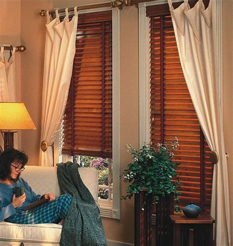 drapes to go curtains to go with wood blinds decorating style