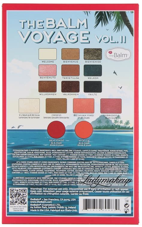The Balm Voyage Vol 2 Travel Pallete the balm voyage vol 2 travel palette groupon with 10 code presents 163 18 18 163 16 19