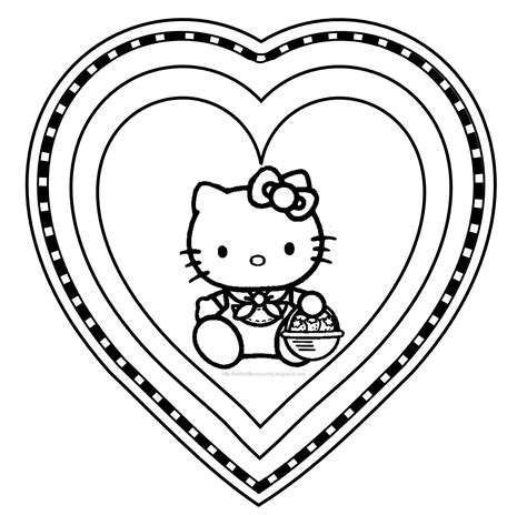 kitten valentine coloring page hello kitty valentines day coloring pages