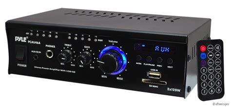 pyle  mini compact power amp ampifier home theater