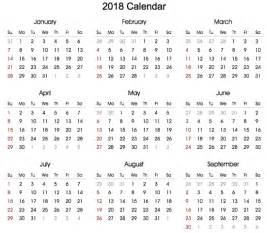 Calendar 2018 Year To View Printable 2018 Calendar In Portrait Format 2018
