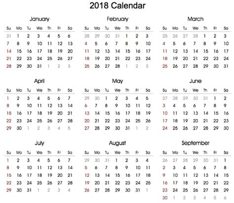 Tunisia Fastis 2018 Calendar 2018 Empty 28 Images January 2018 Blank