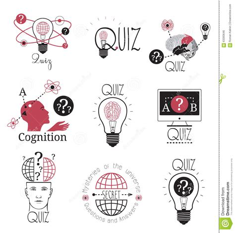 design quiz quiz logo emblems labels design element mind games logo