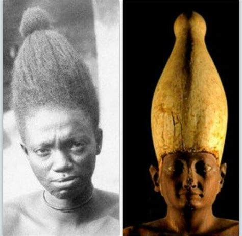 egyptian crowns  designed  african hairstyles