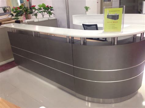2014 New Design Hot Sale Hotel Salon Spa Curved Modern Curved Reception Desk For Sale