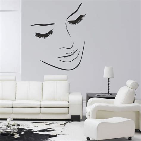 beautiful wall stickers for room interior design beautiful salon wall picture sticker salon straightners scissors ebay