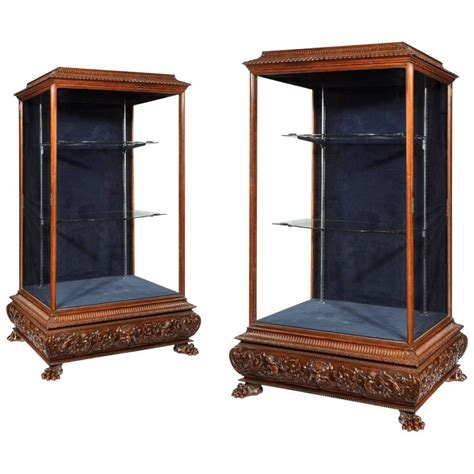 magnificent 90 kitchen cabinet display for sale magnificent pair of 19th century display cabinets for sale