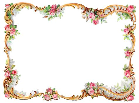 decorative art flowers antique images royalty free flower frame pink rose shabby