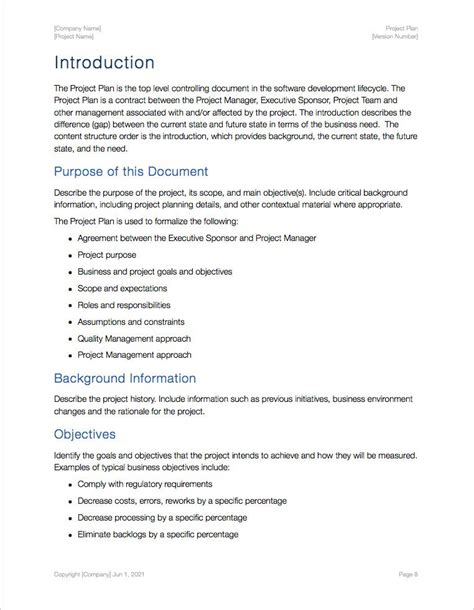 Project Plan Template Apple Iwork Pages Numbers Project Plan Template Numbers For Mac