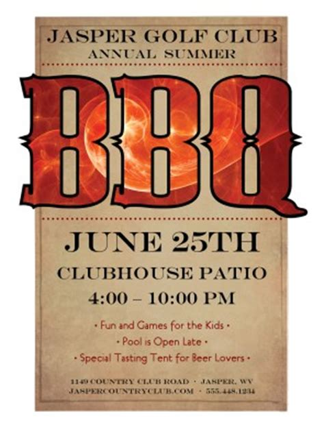 bbq flyer template 20 free barbeque flyer templates demplates