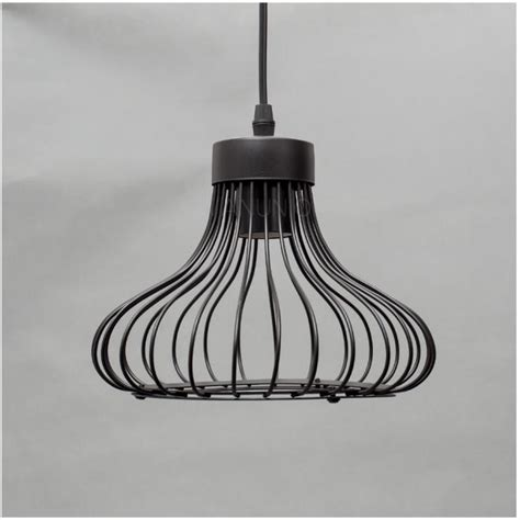 wire cage pendant light industrial vintage black wire cage guard loft pendant