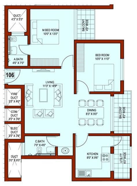 indian house plans for 1500 square feet 1500 square feet indian house plans