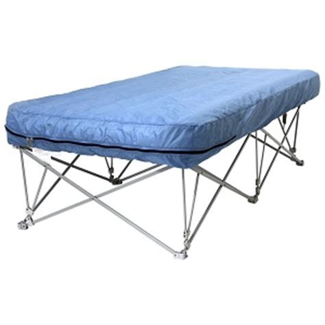 great guest air bed on stand with legs on steel frame portable for and