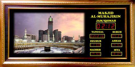 Jam Waktu Sholat Digital 5 jual jam digital masjid jadwal sholat digital 5 waktu