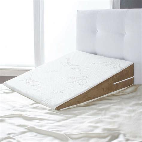 foam pillow wedge avana slant bed wedge acid reflux memory foam pillow king
