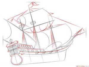 how to draw a pirate ship doodle how to draw a pirate ship step by step drawing tutorials