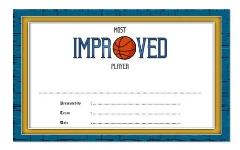 most improved certificate template most improved player certificate 1 best 10 templates