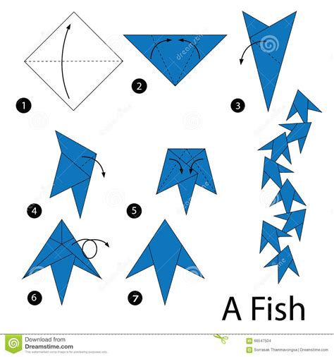 How To Make A Origami Step By Step - origami fish steps comot