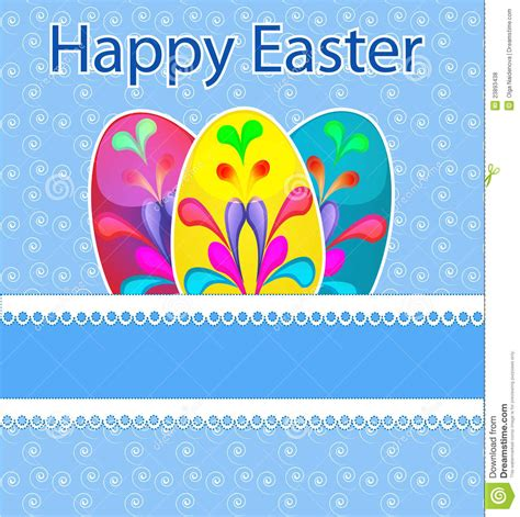 Easter Greeting Card Template by Template Easter Greeting Card Royalty Free Stock Photos