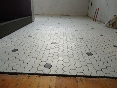 corner of 9th and paradise hex floor tile