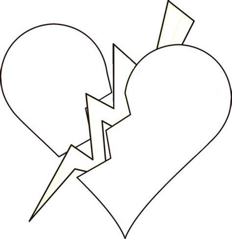 Broken Heart Coloring Page | broken hearts coloring pages gt gt disney coloring pages