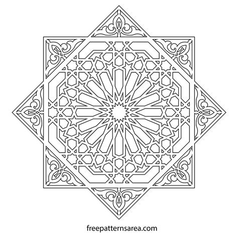 moroccan pattern png geometric islamic ornament art vector patterns