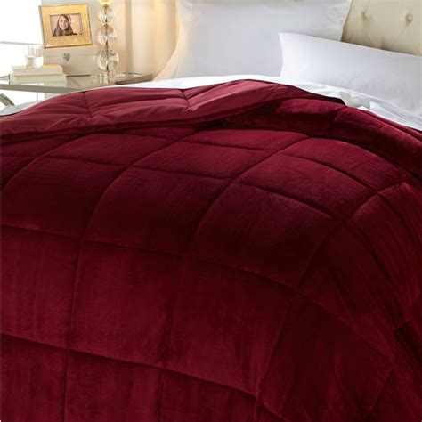 cozy soft comforter conceirge collection soft cozy comforter berry red sz