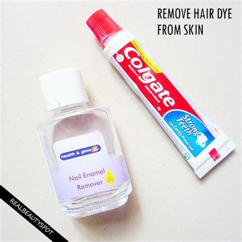 how to remove hair color from skin and nails hair dye