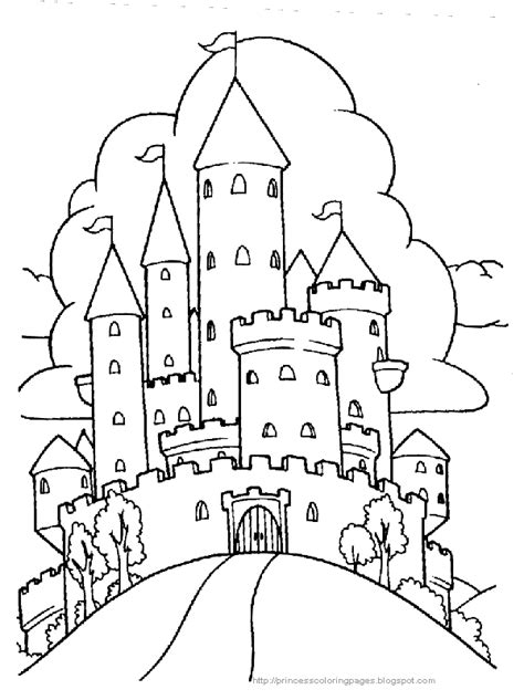 And The Castle Coloring Pages princess coloring pages