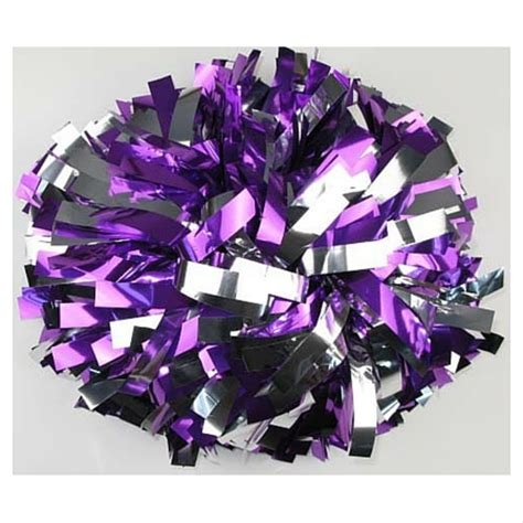 purple pomeranian cheerleading pom poms