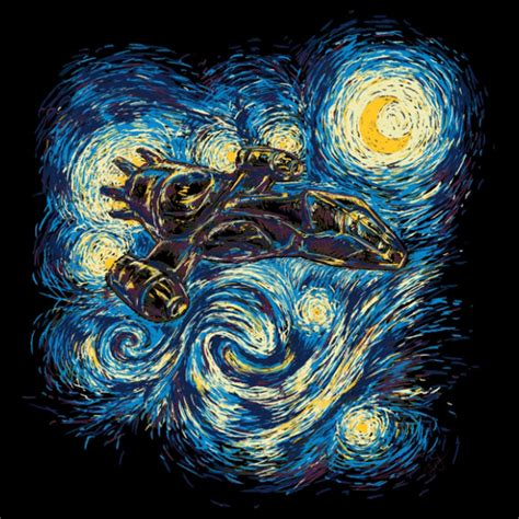 9 geeky variations of a starry night by van gogh epic firefly starry night t shirt