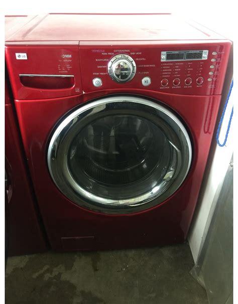 lg lg tromm front load steam washing machine  red