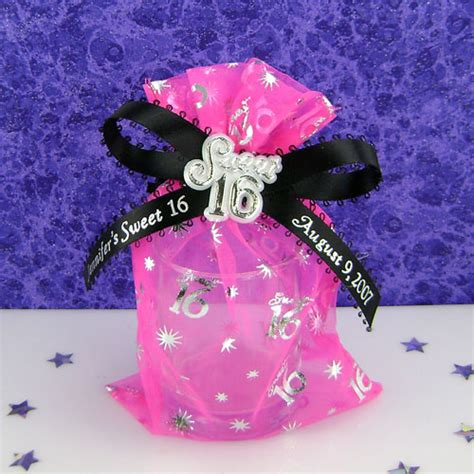 Sweet Sixteen Giveaways - personalized sweet 16 favors 16th birthday wrapwithus caroldoey