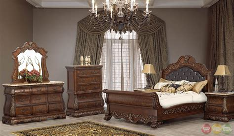 granite bedroom set rome traditional cherry sleigh bedroom set with stone tops