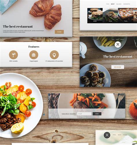 food template psd 37 psd blocks restaurant landing page freebiesui