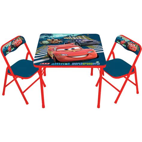 disney cars 2 activity table and 2 chairs set walmart