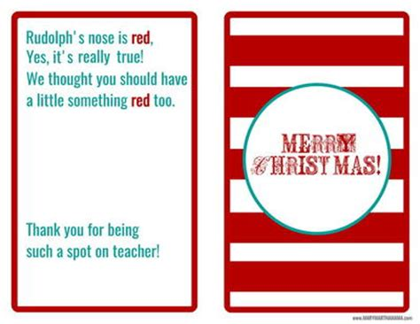printable christmas cards for teachers teacher christmas gift card printable
