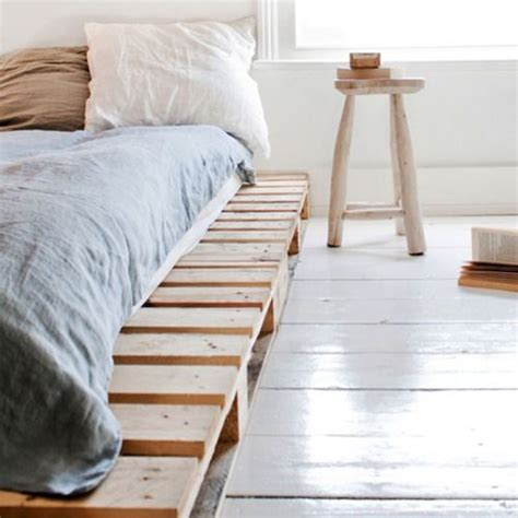 Wooden Crate Bed Frame Crate Bed Frame For The Home Pinterest Palette Bed