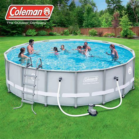 coleman backyards summer waves proseries 14 x 42 quot premium frame above