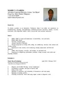 diesel mechanic resume sle overseas aviation mechanic sle resume information